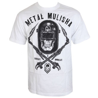 tričko pánské METAL MULISHA - TORCHED - WHT - WHT_SP7518004.01