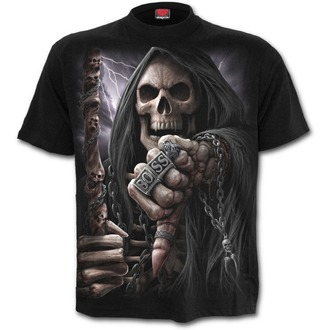 tričko pánské SPIRAL - BOSS REAPER - Black, SPIRAL