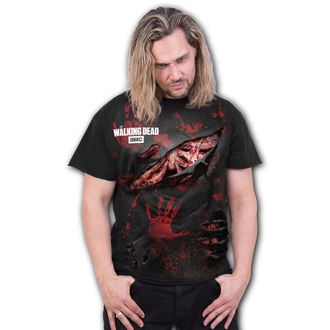tričko pánské SPIRAL - ZOMBIE - ALL INFECTED - Walking Dead Ripped - Black - G004M125