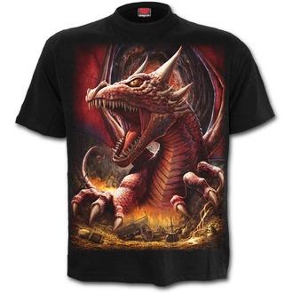 tričko pánské SPIRAL - AWAKE THE DRAGON - Black - L031M101