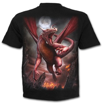 tričko pánské SPIRAL - AWAKE THE DRAGON - Black, SPIRAL