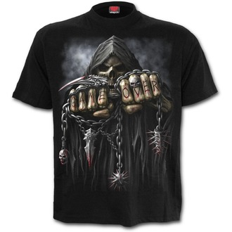 tričko pánské SPIRAL - GAME OVER - Black Plus Size, SPIRAL