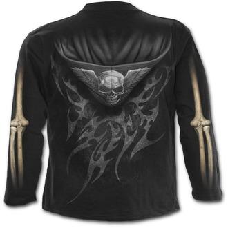 tričko pánské s dlouhým rukávem SPIRAL - UNZIPPED - Black