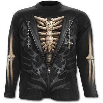 tričko pánské s dlouhým rukávem SPIRAL - UNZIPPED - Black - T098M301