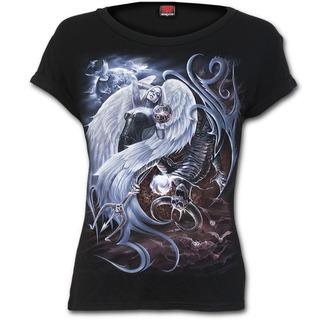 tričko dámské SPIRAL - YIN YANG - Black, SPIRAL