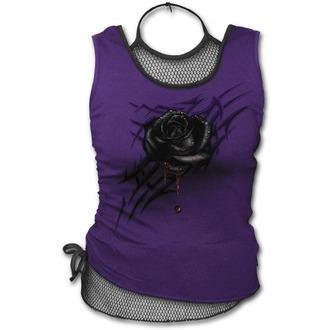 tílko dámské SPIRAL - BLACK ROSE DEW - Purple