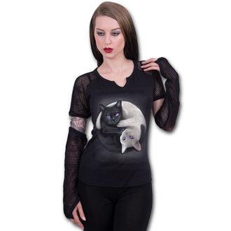 tričko dámské s dlouhým rukávem SPIRAL - YIN YANG CATS, SPIRAL
