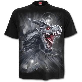 tričko pánské SPIRAL - DRAGON'S CRY - Black - D074M101