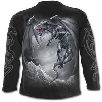 tričko pánské s dlouhým rukávem SPIRAL - DRAGON'S CRY - Black