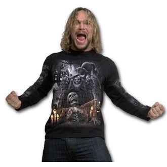 tričko pánské s dlouhým rukávem SPIRAL - LIVING DEAD - Black - K042M301