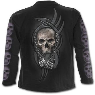 tričko pánské s dlouhým rukávem SPIRAL - BOSS REAPER - Black - T138M301