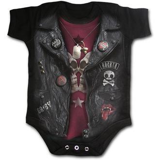 body dětské SPIRAL - BABY BIKER - Black