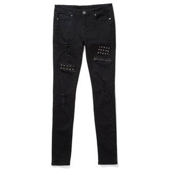 kalhoty dámské KILLSTAR - Lithium - Black - K-BTM-F-2398