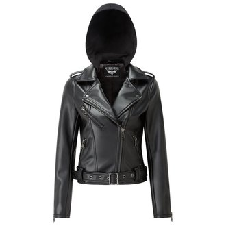 bunda dámská (křivák) KILLSTAR - Ruth Less Veganomicon Biker - Black - K-JKT-F-2427