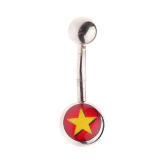 piercingový šperk - Star/Red, NNM
