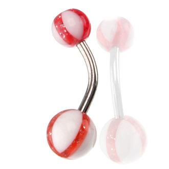 piercingový šperk - White/Red, NNM