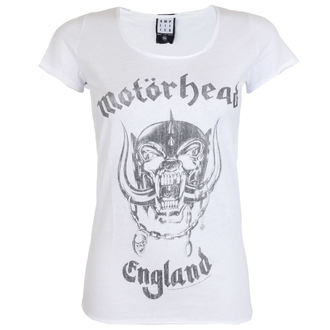 tričko dámské AMPLIFIED - MOTORHEAD - ENGLAND - WHITE