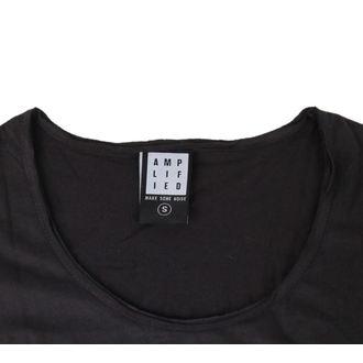 tričko dámské AMPLIFIED - DAVID BOWIE - LOGO - CHARCOAL