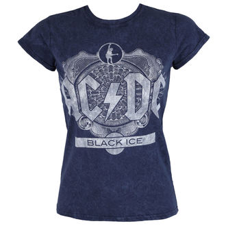 tričko dámské AC/DC - Black Ice - Denim - ROCK OFF, ROCK OFF, AC-DC