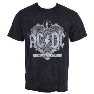 tričko pánské AC/DC - Black Ice - Black - ROCK OFF - ACDCSWASH01MB