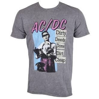 tričko pánské AC/DC - DDDDC - Charcoal - ROCK OFF, ROCK OFF, AC-DC