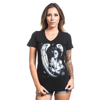 tričko dámské SULLEN - INK ANGEL - BLACK, SULLEN