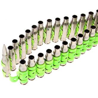 pásek Silver & Fluorescent - Green Metal Bullet