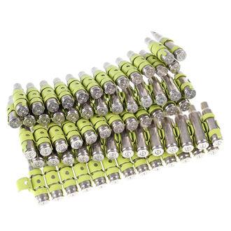 pásek Silver & Fluorescent - Yellow Metal Bullet