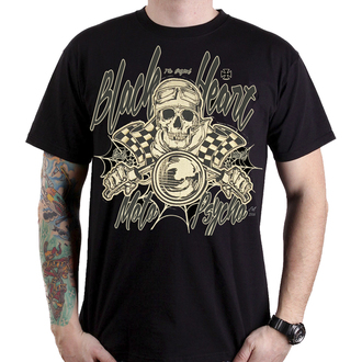 tričko pánské BLACK HEART - MOTO PSYCHO - BLACK - 001-0090-BLK
