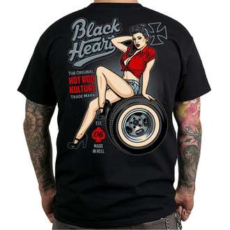 tričko pánské BLACK HEART - REBECCA - BLACK - 001-0067-BLK