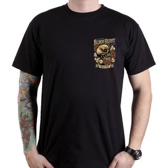 tričko pánské BLACK HEART - GAMBLE - BLACK