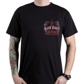 tričko pánské BLACK HEART - FLAME CHOPPER - BLACK, BLACK HEART