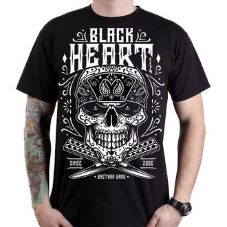 tričko pánské BLACK HEART - BANDANA SKULL - BLACK