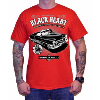 tričko pánské BLACK HEART - CADILLAC - RED, BLACK HEART