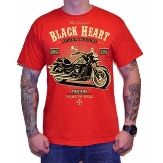 tričko pánské BLACK HEART - HARLEY - RED - 001-0092-RED