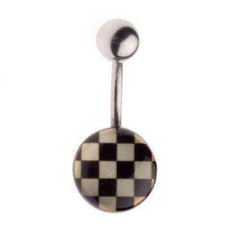 piercingový šperk Šachovnice - L-029 - MABR- IV030