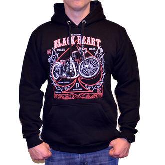 mikina pánská BLACK HEART - FLAME CHOPPER - BLACK - 003-0030-BLK