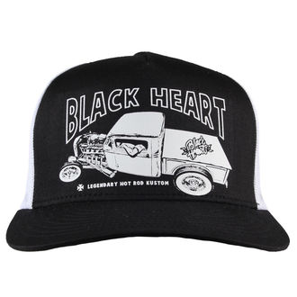 kšiltovka BLACK HEART - PICK UP MARK - WHITE, BLACK HEART