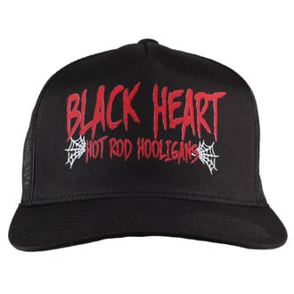 kšiltovka BLACK HEART - RED HOOLIGAN - BLACK, BLACK HEART