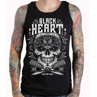 tílko pánské BLACK HEART - BANDANA SKULL - BLACK, BLACK HEART
