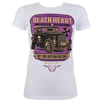 tričko dámské BLACK HEART - UNITED - WHITE, BLACK HEART
