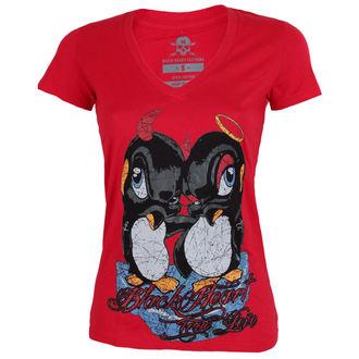 tričko dámské BLACK HEART - PINGUIN - RED, BLACK HEART
