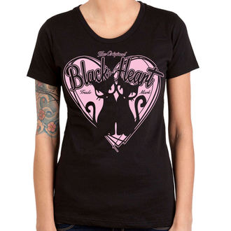 tričko dámské BLACK HEART - PUSSY CATS - BLACK, BLACK HEART
