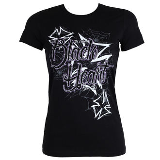 tričko dámské BLACK HEART - CROSS - BLACK, BLACK HEART