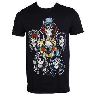 tričko pánské Guns N' Roses - Vintage Heads - Black - ROCK OFF - GNRTS06MB