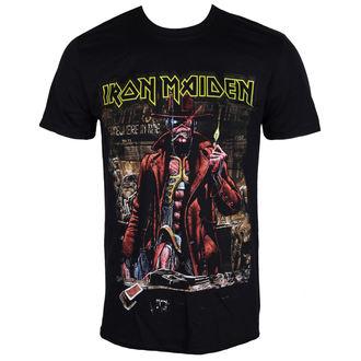 tričko pánské Iron Maiden - Stranger Sepia - Black - ROCK OFF, ROCK OFF, Iron Maiden