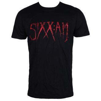 tričko pánské Sixx A.M Logo - Black - ROCK OFF, ROCK OFF, Sixx A.M