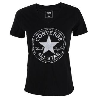tričko dámské CONVERSE - Metallic Chuck Patch Vneck, CONVERSE