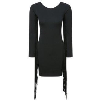 šaty dámské KILLSTAR - Sister Salem Fringe - Black