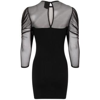 šaty dámské Necessary Evil - Ruched Mesh Lyssa - N1270